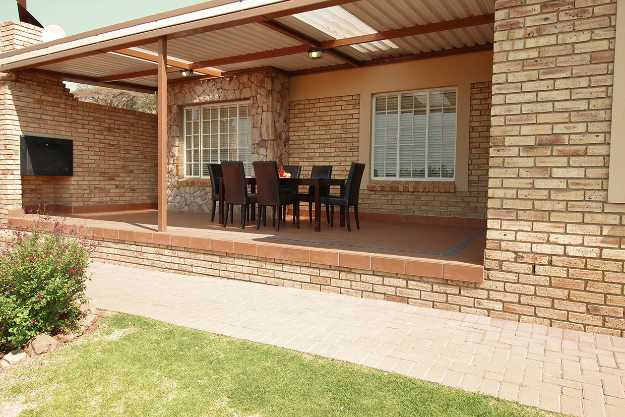 Protea Retirement Village spacious patio